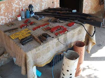Policia  Ambiental apreende armas, munições e carne de animal silvestre em Itariri