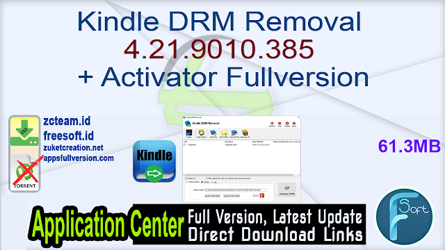 Kindle DRM Removal 4.21.9010.385 + Activator Fullversion