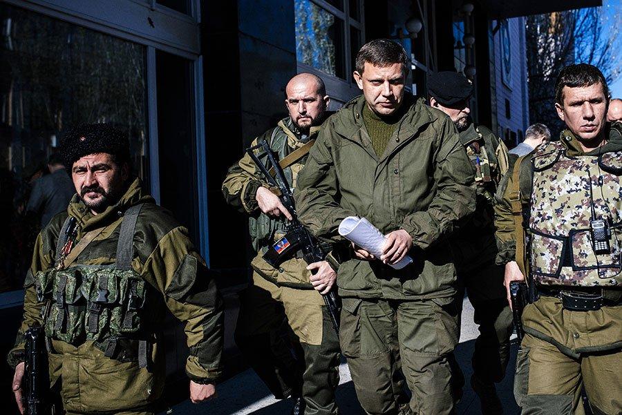 Главарь боевиков «ДНР» Александр Захарченко