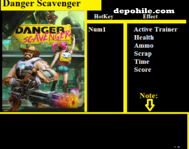 Danger Scavenger PC Oyunu Can, Mermi +5 Trainer Hilesi İndir