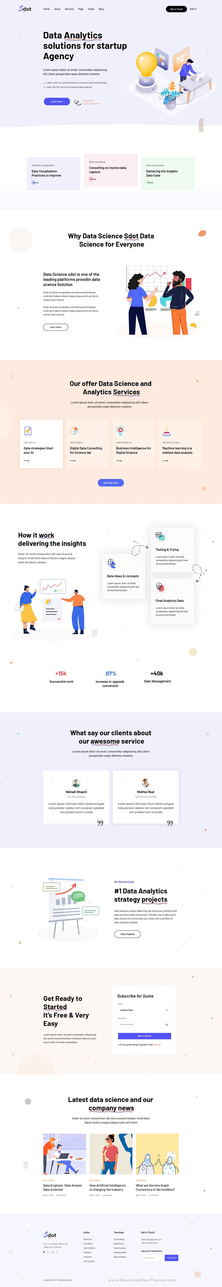 Data Science & Analytics PSD Template Review