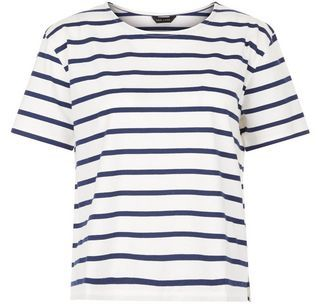 Blue Stripe Boxy T-Shirt