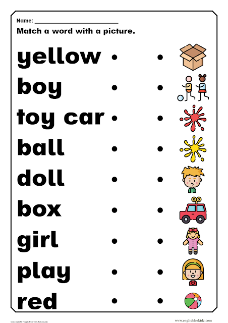 Dolch sight words worksheet pre-primer level - printable resources for English learners