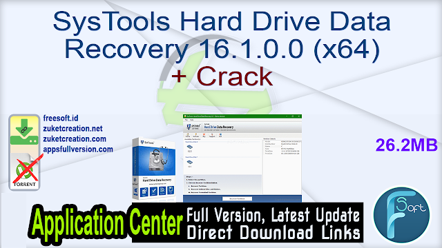 SysTools Hard Drive Data Recovery 16.1.0.0 (x64) + Crack