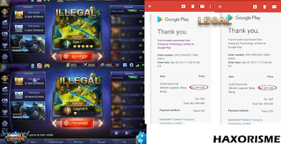 Jasa Pembelajaran Top Up Diamond Mobile Legends Ilegal Murah