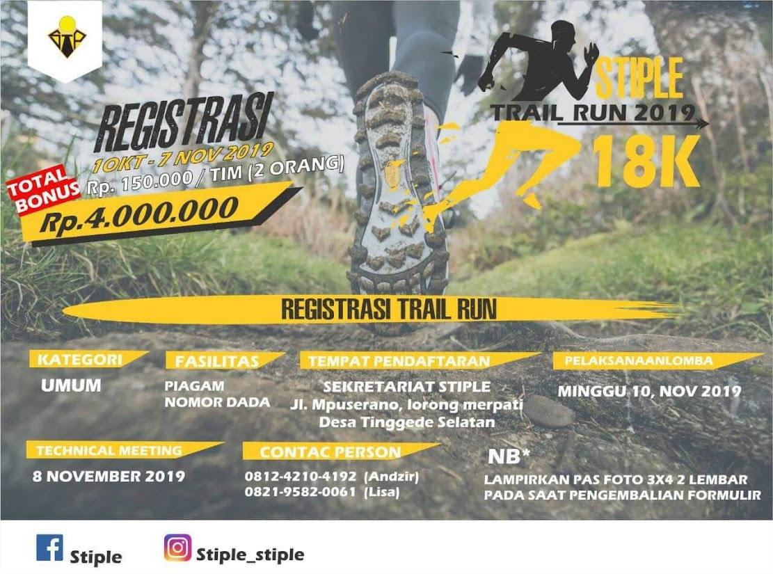 Stiple Fun/Trail Run • 2019