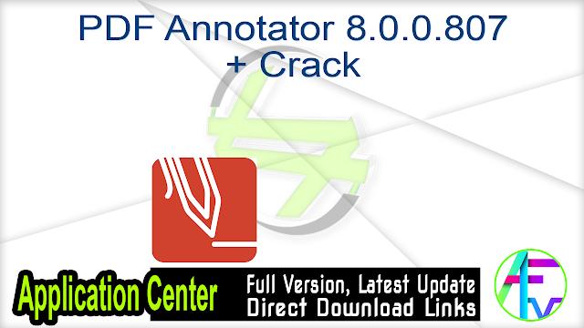 PDF Annotator 8.0.0.807 + Crack