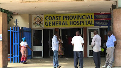 Coast General hospital entrance after the fears of coronavirus in the hospital. PHOTO | KNC
