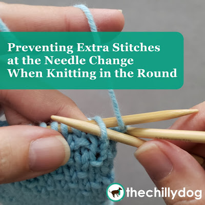 Knitting Tutorial: How to prevent extra stitches at the needle change when knitting in the round