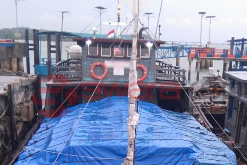 Kapal Kayu Milik Pengusaha, Diduga Terlibat Penyelundupan Rokok ke Malaysia
