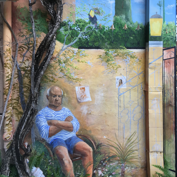 Mural of Picasso in West Palm Beach, Florida