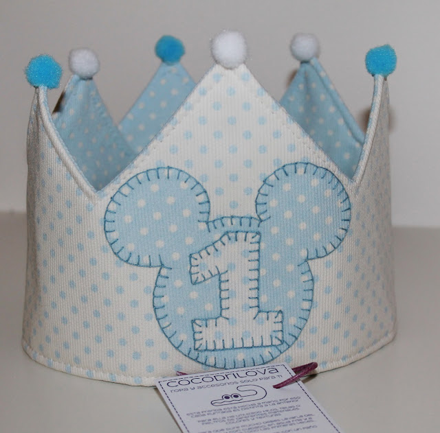 corona cumpleaños 1 año mickey mouse