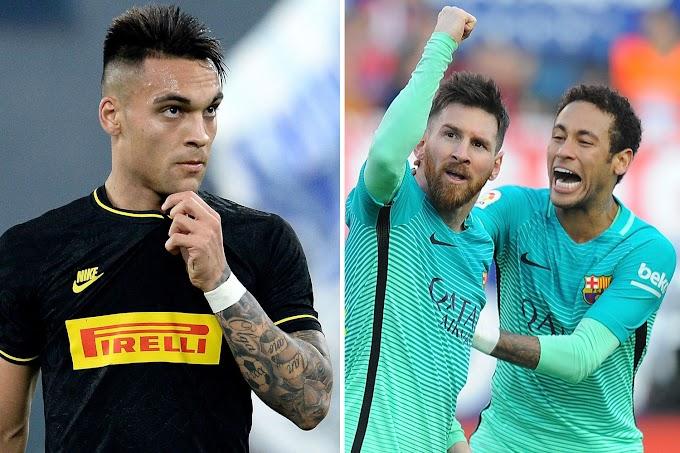Barça se aproxima de Lautaro Martínez e enxerga Neymar distante