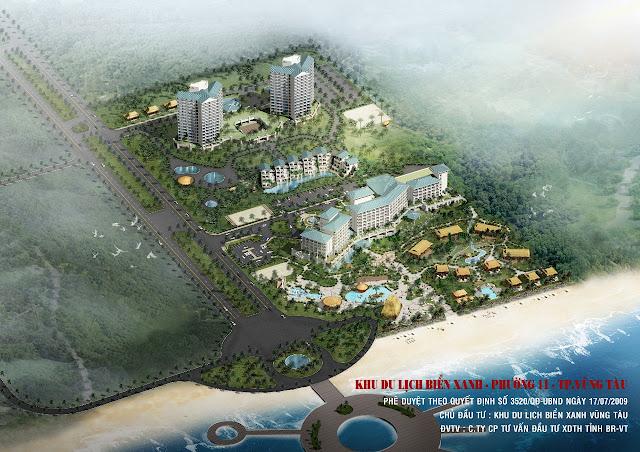 Dự án Khu Du Lịch Biển Xanh (10,5ha) tại Phường 11, Tp.Vũng Tàu
