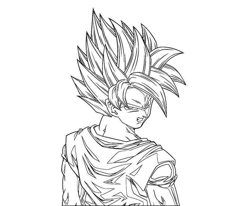dbz coloring pages goku | Dragon Ball Z Goku Coloring Pages Printable (7 Image ...