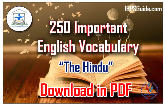 List of 250 Important English Vocabulary (Meaning-Usage