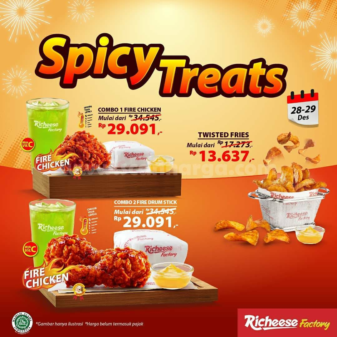 Richeese Factory Promo Spicy Treats – Harga Spesial mulai Rp 13.637