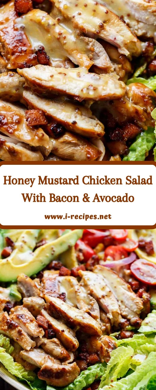 Honey Mustard Chicken Salad With Bacon & Avocado