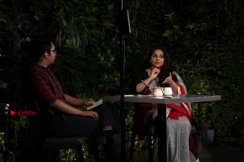 Vidya Balan Photos in Saree at Live in Conversation With Renil Abraham