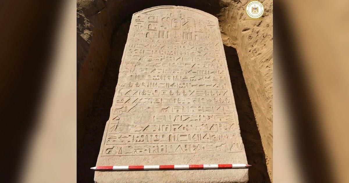 Farmer Near Cairo Discovers 2,600-Year-Old Stone Slab From Egyptian Pharaoh