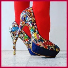 ZAPATOS COMIC CON MOD PODGE