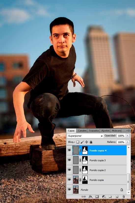 Tutorial Photoshop en Español Efecto Cine Paso 06