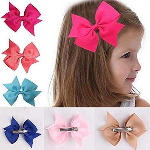 80% off Angoo Beauty 10pcs Girls Ribbon Bow Hair Clips