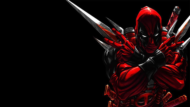 Black Deadpool wallpaper 4k