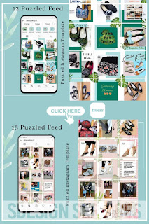 Puzzled instagram template based on canva - instagram puzzle feed canva - instagram puzzle feed grid
