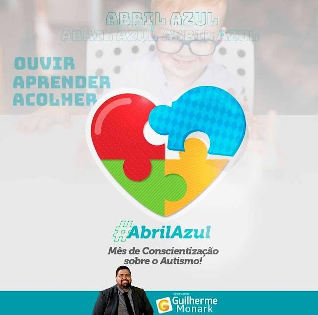 Vereador Guilherme apoia o mês da Conscientização do Autismo