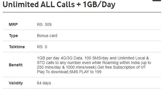 vodafone 4g internet offers