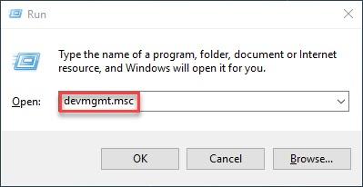 بدء تشغيل Windows devmgmt