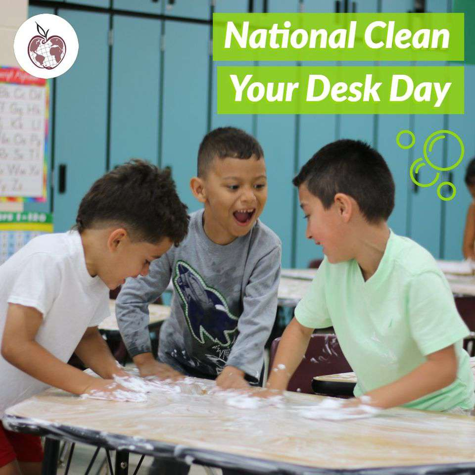 National Clean Your Desk Day Wishes for Whatsapp