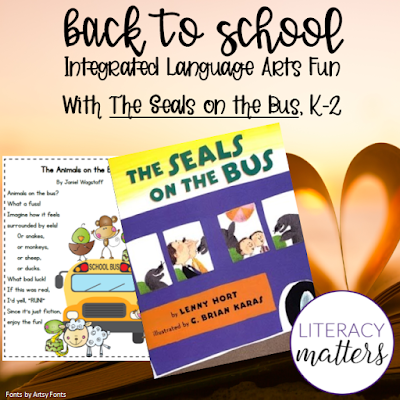 A Back to School Mentor Text Link-Up of literacy blog posts and FREE products from The Reading Crew.