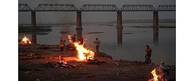 The number of bodies floating in the Gangas has reached 71