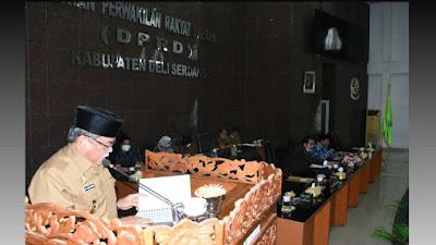 Wakil Bupati Deli Serdang H.M. Ali Yusuf Siregar Sampaikan LKPJ Tahun Anggaran 2020