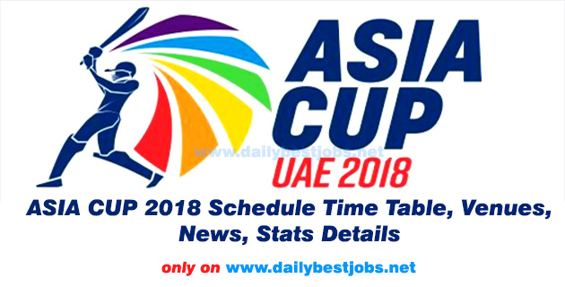 Asia Cup 2018 Schedule Date Time Table