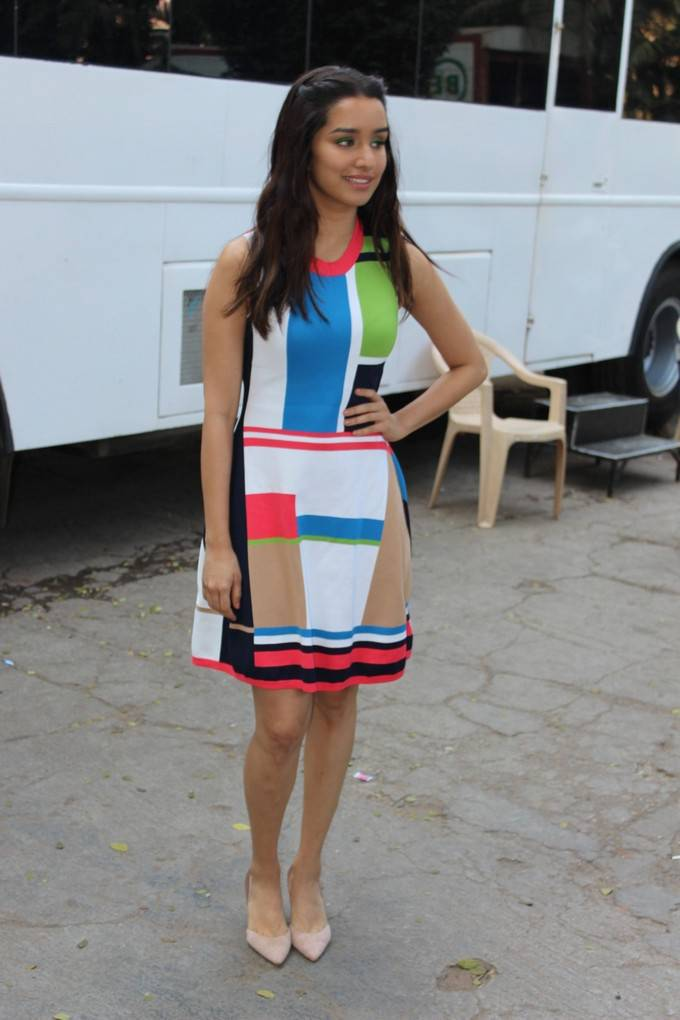 Bollywood Actress Shraddha Kapoor Stills In Mini Dress