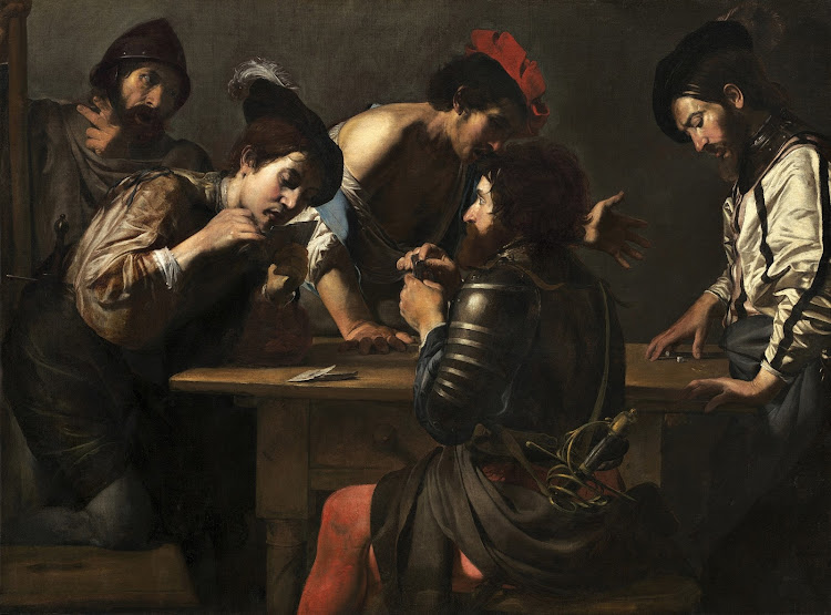 Valentin de Boulogne - Soldiers Playing Cards and Dice (c.1618-20)