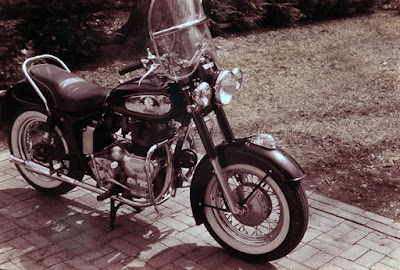 Royal Enfield Indian Chief motorcycle photographed in 1962.