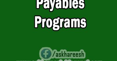 Payables Concurrent Programs | AskHareesh Blog on Oracle Applications