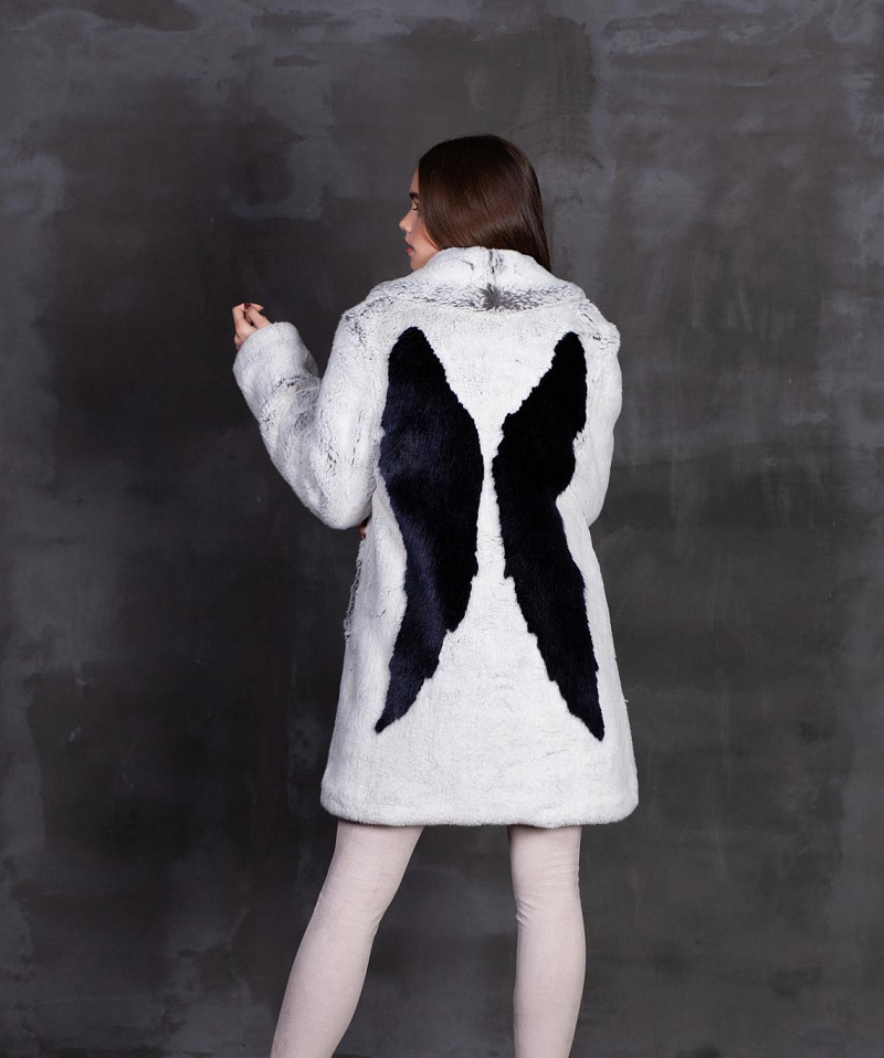 Luxury faux fur coat Chinchilla diamond Exclusive eco furs