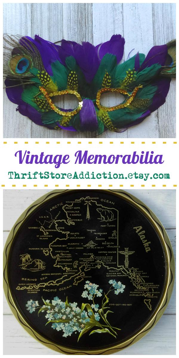 vintage memorabilia and state souvenirs