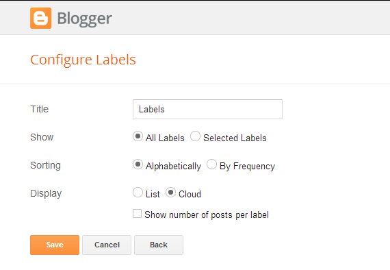 Adding Labels Cloud Widget : eAskme