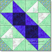 Road to Vegas quilt block © W. Russell, patchworksquare.com