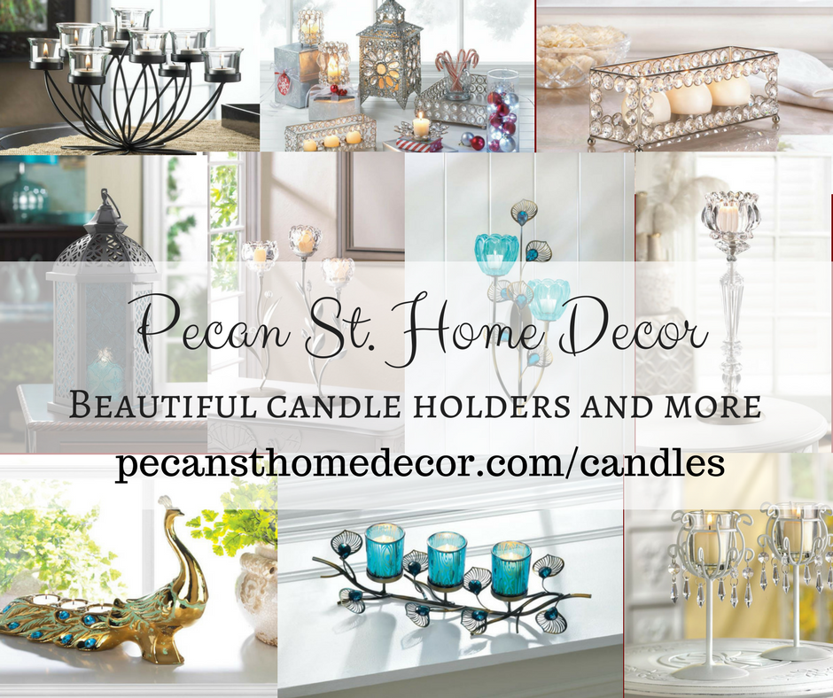 Pecan St. Home Decor Candleholders