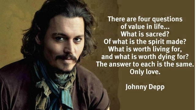 Johnny Depp  inspiring quotes about life