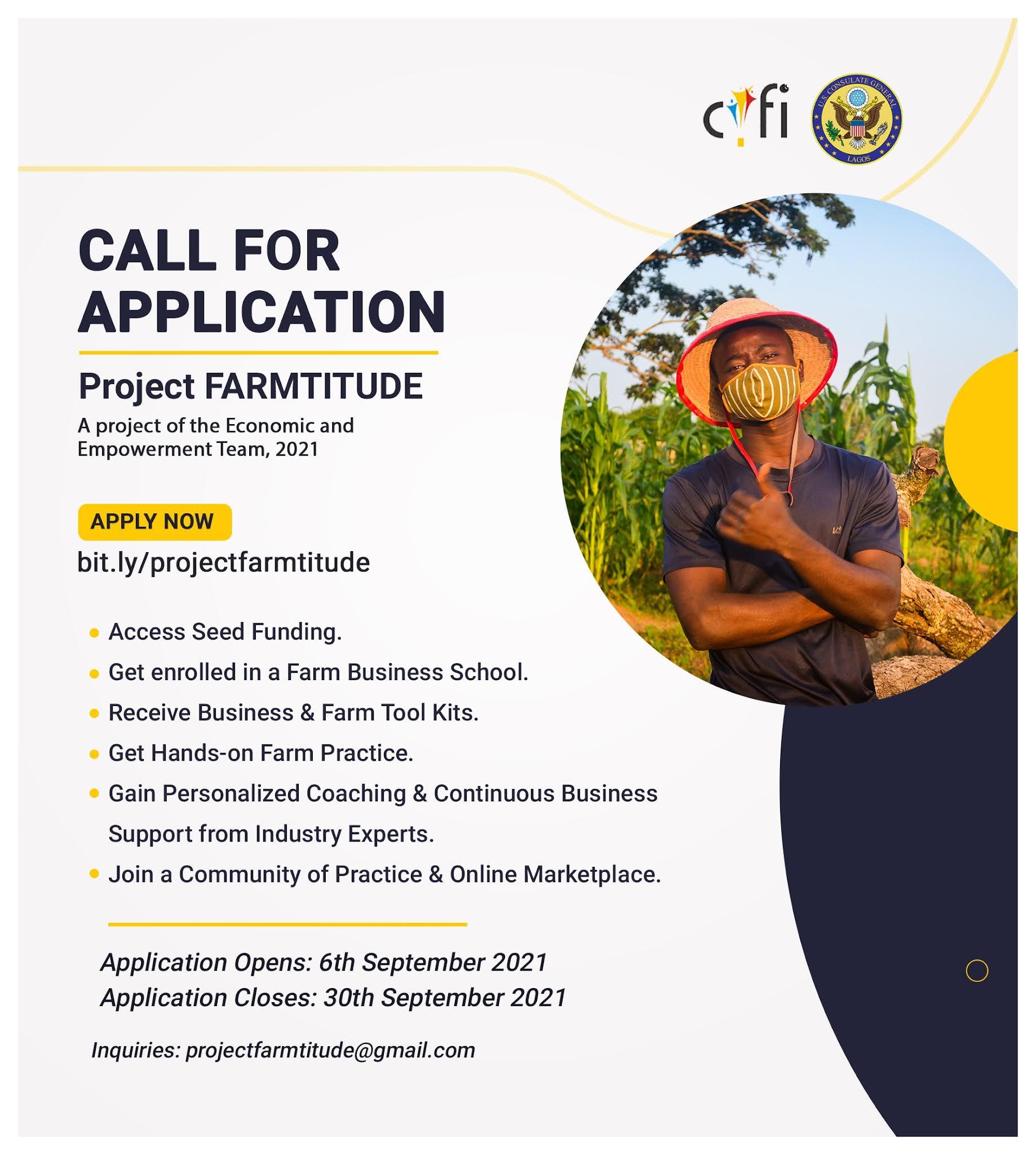 Project FARMTITUDE: Carrington Youth Fellowship Initiative (CYFI) Project Farmtitude 2021 for Agripreneurs