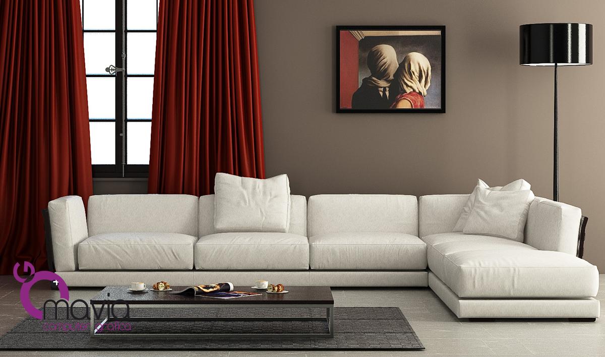 Arredamento di interni interni 3d divani angolari for Divani in stoffa