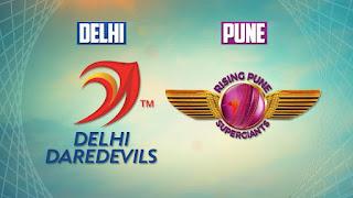 Delhi Daredevils (DD) vs (RPS) Rising Pune Supergiants